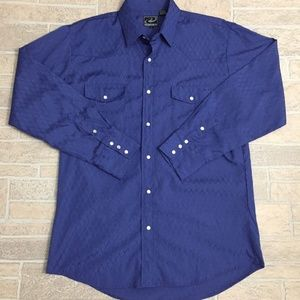 Roper Button Down Long Sleeve Pearl Snap Shirt